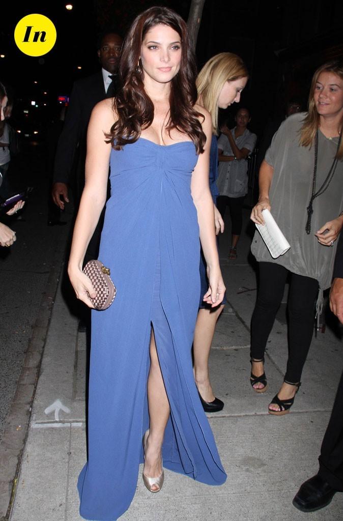 Robe bleue accessoire