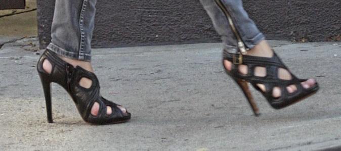 sandales noires talons