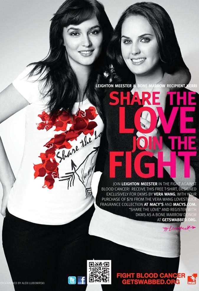 Leighton Meester et Vera Wang se mobilisent pour une campagne de lutte contre le cancer du sang !